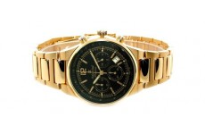 Gents Oskar Emil Phoenix 23K Gold Chronograph Sports Watch with Black Dial RRP £275