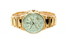 Gents Oskar Emil Phoenix 23K Gold Chronograph Sports Watch with Cream Dial RRP £275