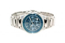 Gents Oskar Emil Phoenix Steel Chronograph Sports Watch with Blue Dial RRP £245