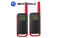 8Km Motorola TLKR T62 Walkie Talkie Two Way Licence Free 446 PMR Security Leisure Radio – Twin Pack Red