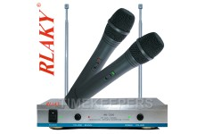 RLAKY AK-3300 VHF Wireless DJ Karaoke Public Address PA Twin Microphone System