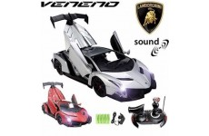 Official Licensed CM-2177 1:14 Lamborghini Veneno® Radio Control RC Electric Rechargeable Car with 9 Sound Effects & Electric Opening Doors - Ready to Run EP RTR