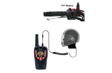 Pama HM-100 PTT/VOX Closed Face Motorbike Motorcycle Intercom Headset for Cobra 2 Two Way Radios