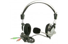 SM-301MV Stereo Skype Headphone Headset with Microphone and Volume Control for PC Desktop Laptop