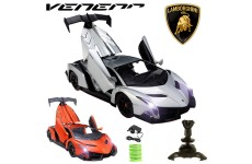Official Licensed CM-2191 1:14 Lamborghini Veneno Radio Controlled RC Electric Rechargeable Car with Opening Doors - Ready to Run EP RTR - Orange / Silver