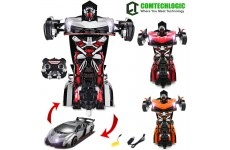 Comtechlogic® CM-2200 2.4Ghz Lamborghini Veneno Rc Radio Remote Control Bumblebee Transformers Drifting Car & Robot with one touch transforming