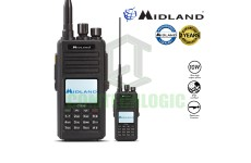 Midland CT990 10w Long Range VHF/UHF Dual Band Dead Man Function IP67 Water Proof Amateur Ham Radio