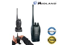 Midland G10 PMR446 License Free Handheld Two Way Radio Walkie Talkie Black