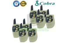 Cobra Hero Military HM230G Kids Walkie Talkie 2Two Way PMR 446 Radio 8 Pack