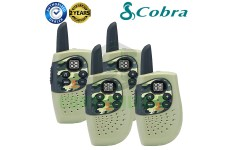 Cobra Hero Military HM230G Kids Walkie Talkie 2Two Way PMR 446 Radio Quad Pack