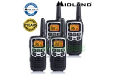 8km Midland XT50 License Free 2 Two Way Walkie Talkie PMR446 Radio Quad Pack UK