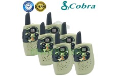Cobra Hero Military HM230G Kids Walkie Talkie 2Two Way PMR 446 Radio 6 Pack