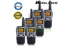 8km Midland XT50 License Free 2 Two Way Walkie Talkie PMR446 Radio Six Pack UK