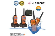 Albrecht Tec Talk Floating Waterproof Two Way PMR Licence Free Walkie Talkies