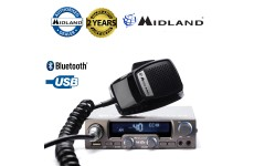 Midland M-20 AM/FM 40Ch ANL NBS USB Mobile LCD CB Radio With Bluetooth Option