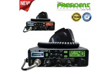President Walker 11 ASC 40ch AM/FM Multi 7 Colour DIsplay CB Radio USB Charger