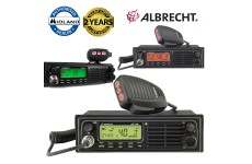 Albrecht AE-6491 Multi Voltage 12-24v 40Ch AM/FM EEPROM Dual LCD Mobile CB Radio