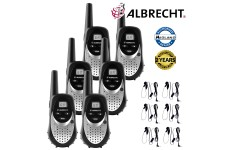 Albrecht TecTalk Smart Plus Walkie Talkie Two Way PMR 446 Leisure Radio Six