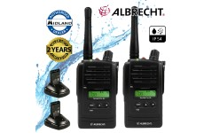 Albrecht Tec Talk Pro XL Waterproof IP54 Licence Free PMR 446 Two Way Radio Twin