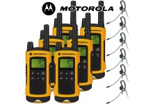 10Km Motorola TLKR T80 Extreme Two Way Radio Walkie Talkie Travel Pack with 6 x Headsets for Skiing & Go Karting - Six