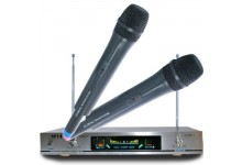 Rlaky AK-8600 VHF Wireless Cordless DJ Karaoke Public Address PA Microphone System with Digital LCD display
