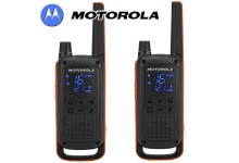 10Km Motorola TLKR T82 Walkie Talkie Two Way Licence Free PMR 446 Radio For Security Leisure - Twin Pack