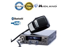 Midland M-10 AM/FM 40Ch ANL NBS USB Mobile LCD CB Radio With Bluetooth Option